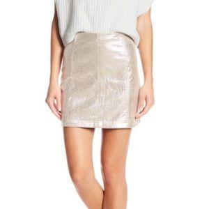 NWT Free People Modern Femme Metallic Mini Skirt
